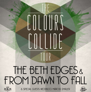 Tourflyer zur Colours Collide Tour