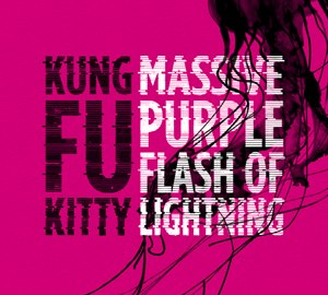 "CD Cover ""Massive Purple Flash of Lightning"" von Kung Fu Kitty"