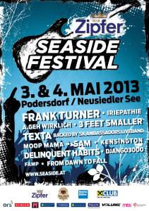 Plakat vom Seaside Festival 2013