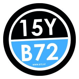 B72 15 jahre logo
