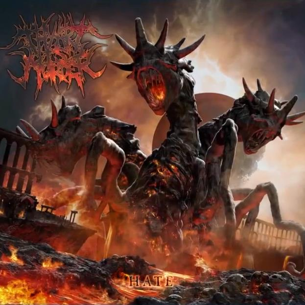 "CD Cover ""Hate"" von Thy Art Is Murder"