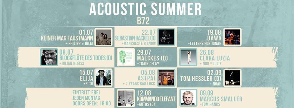 Acoustic Summer im B72