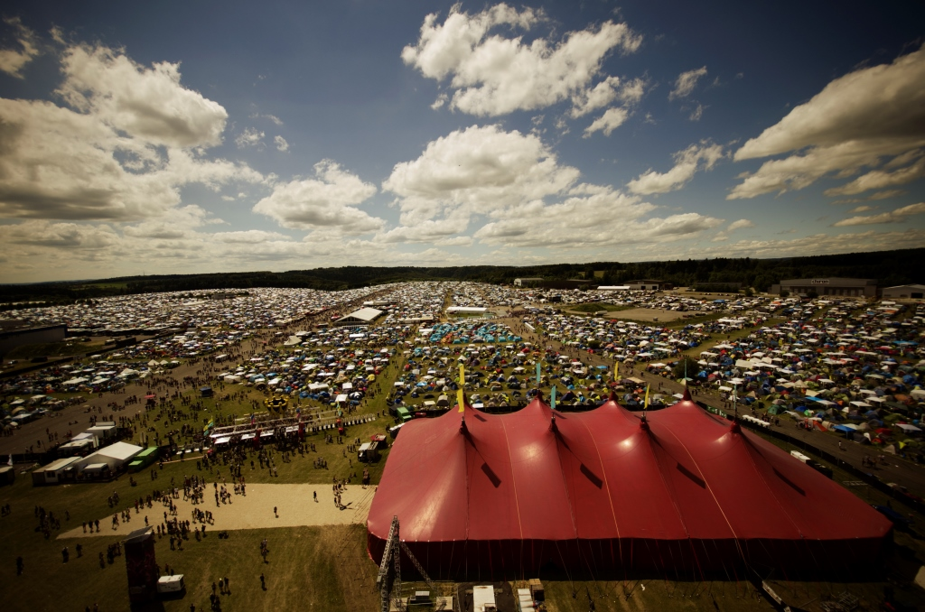 Der Campingplatz des Southside Festivals