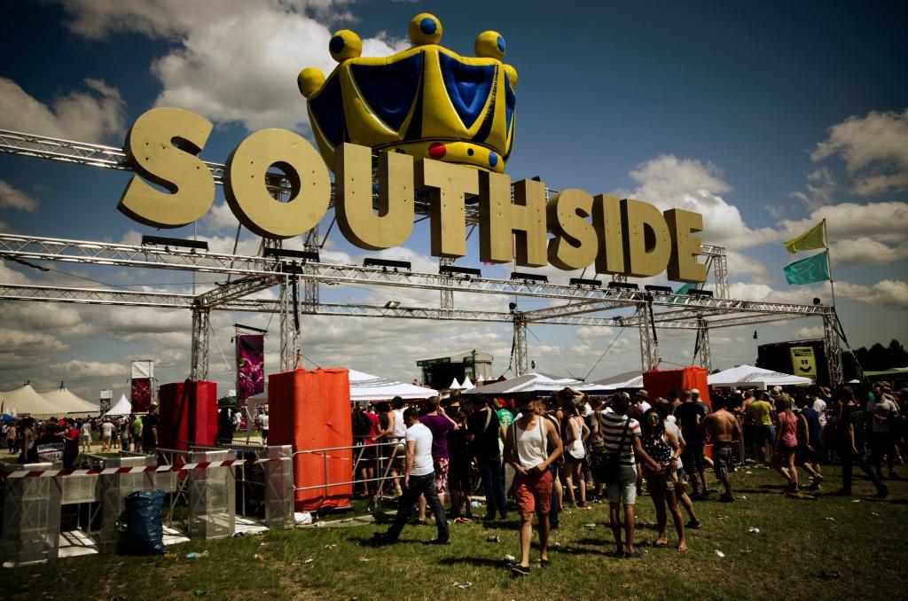 Der Einlass für das Southside Festivalgelände