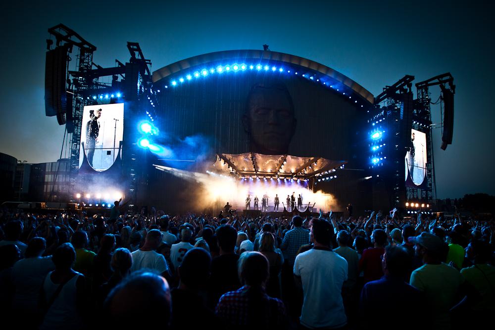 Robbie Williams - eine beeindruckende Bühne