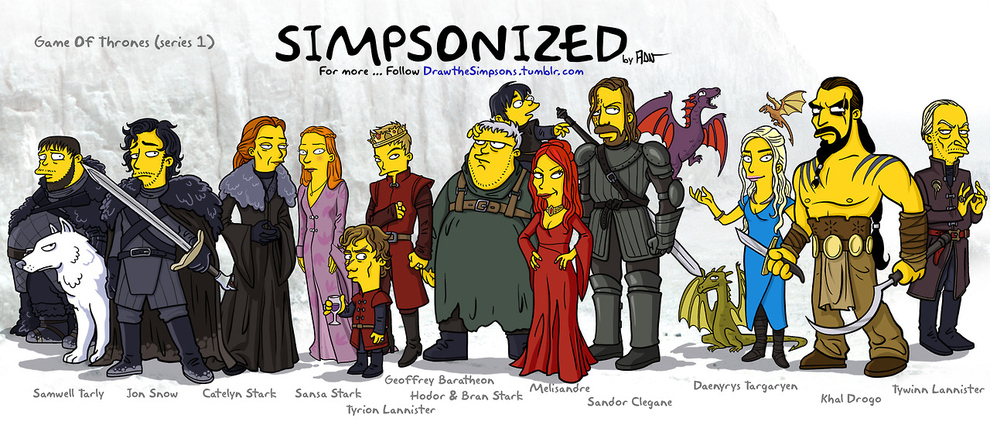 Game Of Thrones als Simpsons Figuren