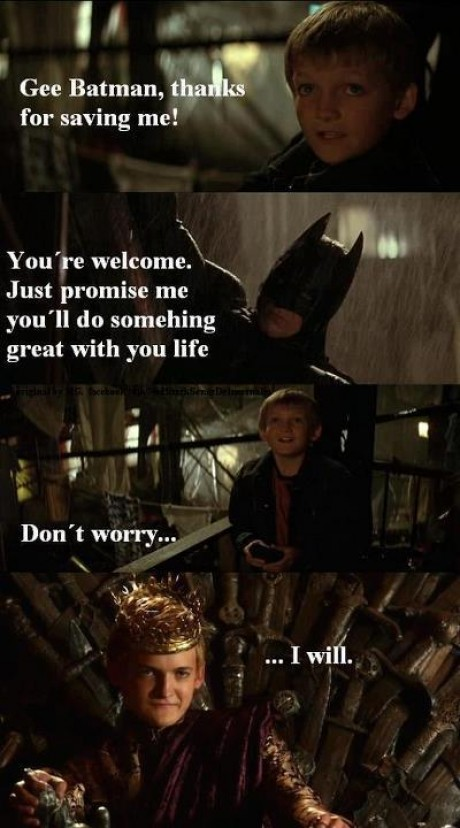 Joffrey als Batman? Game Of Thrones