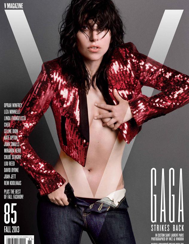 Lady Gaga zeigt sich im V Magazine nackt