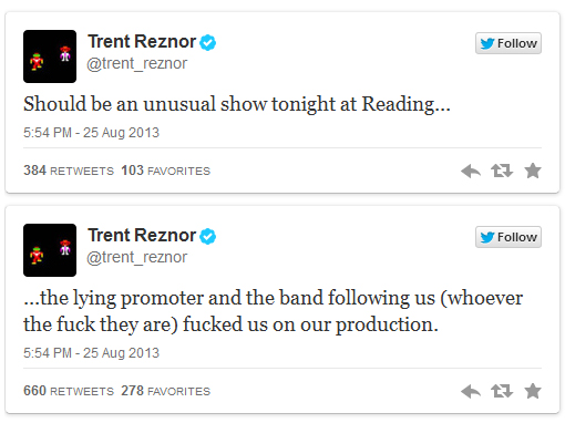 Trent Reznor ist grantig