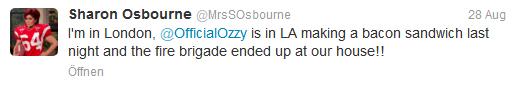 Ozzy Osbourne brannte das Haus fast ab