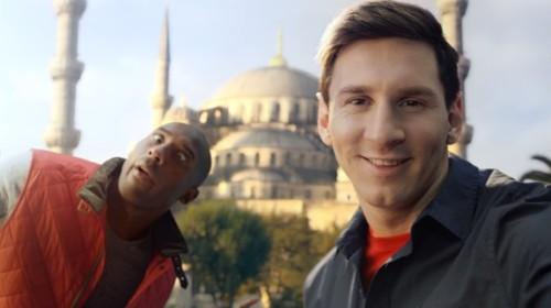 Messi und Kobe im Selfie-Wettstreit