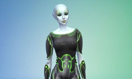 Schönheit von einem anderen Stern - in Die Sims 4 An die Arbeit! sind nun auch Alien-Sims spielbar! ©Screenshot