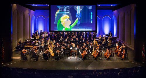 Wohlbekannte Abschnitte aus den Zelda-Spielen liefen harmonisch zur Musik ab. © Bradley K. Goda