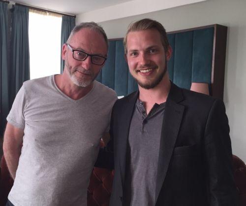 Liam Cunningham und enemy Redakteur Hannes