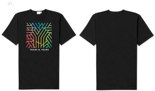 Das schwarze Unisex-Logo-Shirt mit Albumartwork gibt's in Größe L