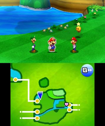 Ein DS Klassiker: Außerhalb von Kämpfen wird der untere Bildschirm für die Darstellung der Map genutzt.