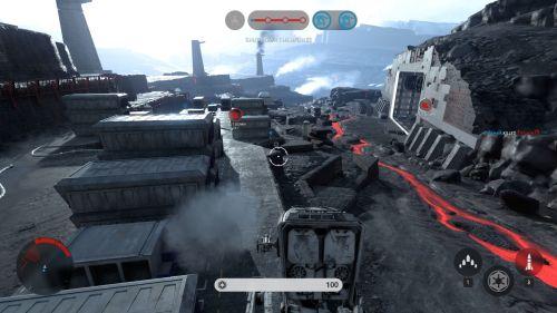 Nutzt man das Terrain aus braucht es seitens der Rebellen das halbe Team, um einen AT-ST loszuwerden.