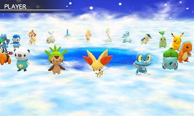 Unter zwanzig Pokémon wählt man seinen Charakter: Alle Starter sowie Pikachu und Riolu stehen zur Verfügung.