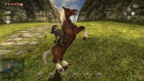 Links treues Pferd Epona ist natürlich auch wieder mit von der Partie.
