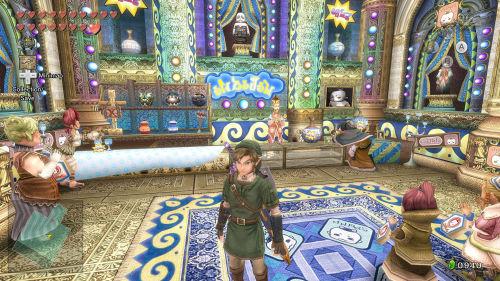 Das wohl farbenfroheste Gebäude in Twilight Princess HD.