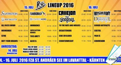 Timetable RdS 2016