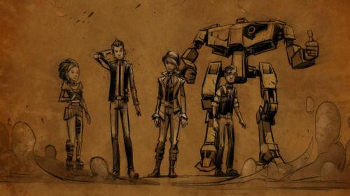 Die Hauptcharaktere im Überblick: Sasha, Rhys, Fiona, Vaughn… und natürlich Loader Bot.