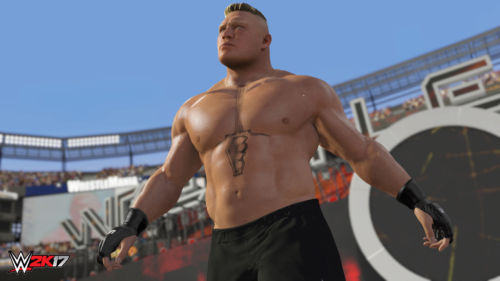 So nah und doch so fern: Brock Lesnar ist zwar der Coverstar, einen Showcase Modus hat man ihm jedoch nicht gewidmet.
