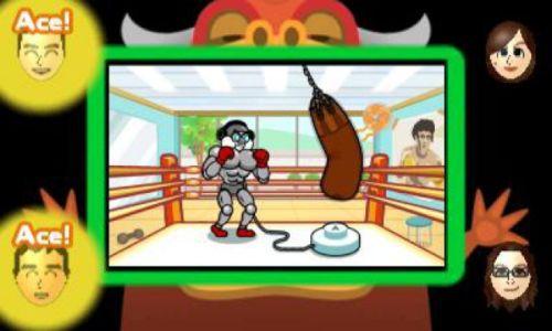Zu viert wird hier im Multiplayer herausgefunden, wer am besten im Takt boxen kann.