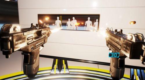 Zwei Waffen gleichzeitig zu führen ist auf der HTC Vive definitiv angenehmer als auf der PSRV.