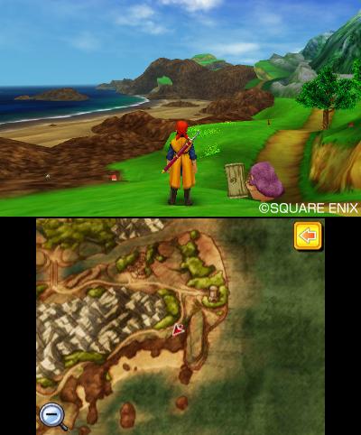 Nie den Überblick verlieren dank der Karte am unteren Bildschirm.