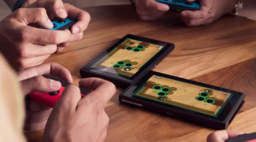 Wow! Wir kombinieren zwei Switches in einer beliebigen Anordnung und erzeugen uns ein eigenes Spielbrett.